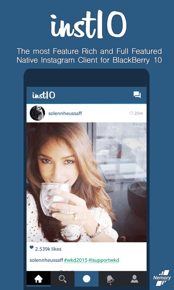 Instagram для BlackBerry