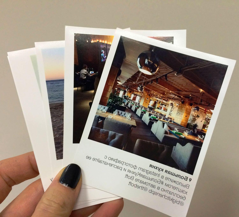 Терминалы для печати фото из Instagram.